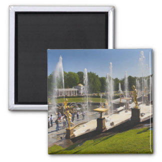 Saint Petersburg, Grand Cascade fountains 14 Square Magnet