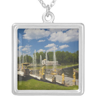 Saint Petersburg, Grand Cascade fountains 7 Silver Plated Necklace