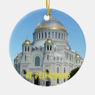 Saint Petersburg Russia Circle Ornament