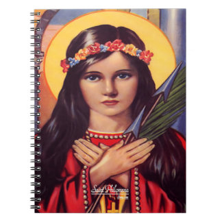 Saint Philomena, Patroness of the Youth Spiral Notebooks