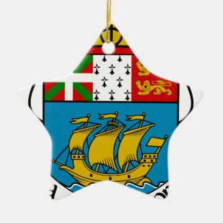 Saint Pierre and Miquelon (France) Coat of Arms Ceramic Ornament