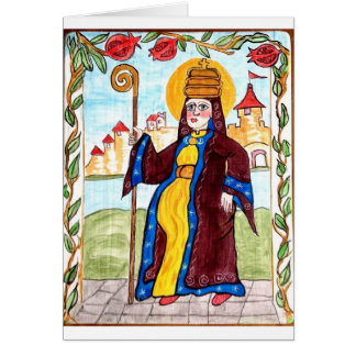 Saint Pope Joan - Medieval Woman Pope Card