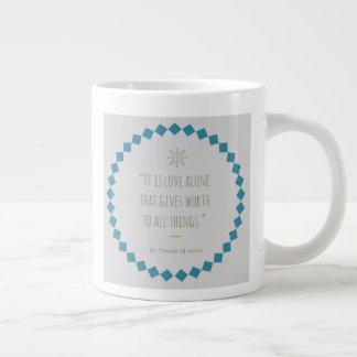 Saint Quote Coffee Mug. St. Teresa of Avila Large Coffee Mug