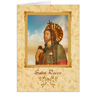 Saint Rocco - Blank Greeting Card