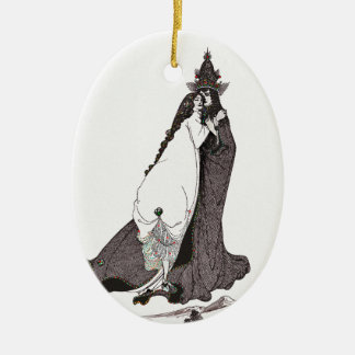 Saint Rose of Lima Ascends to Heaven Ceramic Ornament