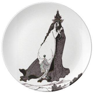 Saint Rose of Lima Ascends to Heaven Porcelain Plate