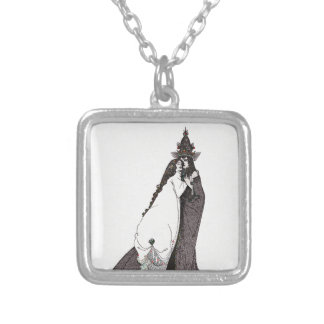 Saint Rose of Lima Ascends to Heaven Silver Plated Necklace