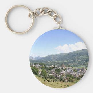 Saint Savin Basic Round Button Keychain