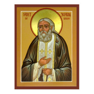 Saint Seraphim of Sarov Prayer Card