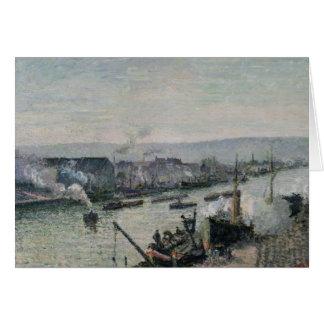 Saint-Sever Port, Rouen, 1896 Card