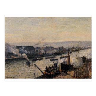 Saint-Sever Port, Rouen by Camille Pissarro Postcard