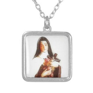Saint Silver Plated Necklace