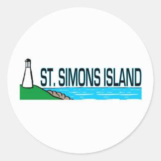 Saint Simons Island, Georgia Classic Round Sticker