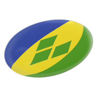 Saint St. Vincent and the Grenadines Flag Plate