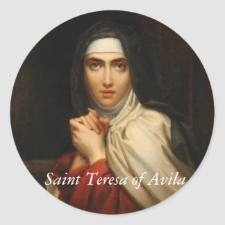 Saint Teresa of Avila Carmelite Nun Round Sticker