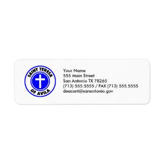Saint Teresa of Avila Return Address Label