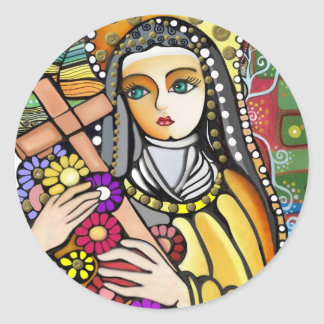 Saint Teresa of Jesus Classic Round Sticker