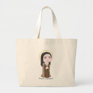 Saint Therese Large Tote Bag