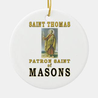 SAINT THOMAS ROUND CERAMIC ORNAMENT