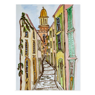 Saint-Tropez Buildings | French Riviera, France Postcard