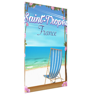 Saint-Tropez France Travel poster Canvas Print