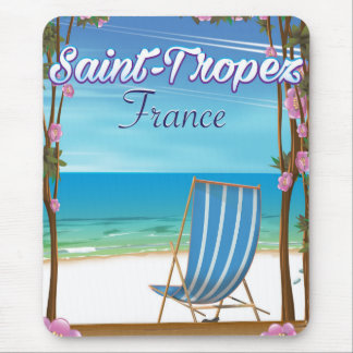 Saint-Tropez France Travel poster Mouse Pad