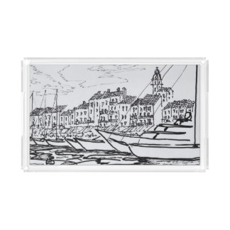 Saint-Tropez Harbor | French Riviera, France Acrylic Tray