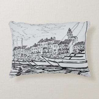 Saint-Tropez Harbor | French Riviera, France Decorative Pillow
