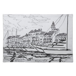 Saint-Tropez Harbor | French Riviera, France Placemat