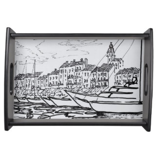 Saint-Tropez Harbor | French Riviera, France Serving Tray