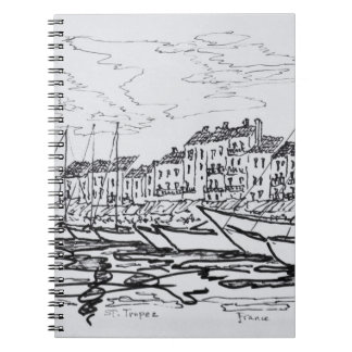 Saint-Tropez Harbor | French Riviera, France Spiral Notebook