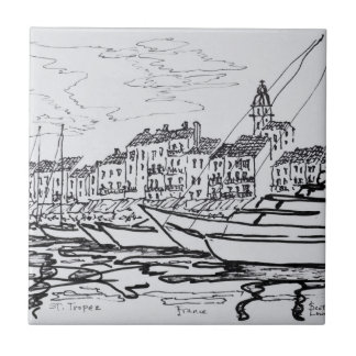 Saint-Tropez Harbor | French Riviera, France Tile