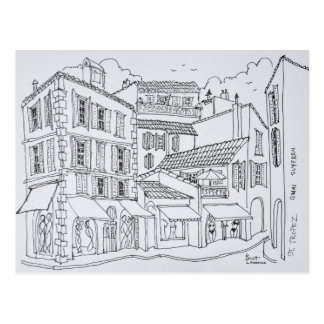 Saint-Tropez Shopping | French Riviera, France Postcard