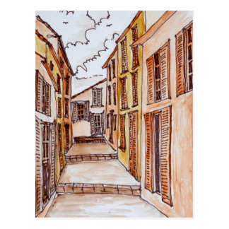 Saint-Tropez Streets | French Riviera, France Postcard