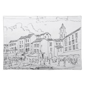 Saint-Tropez Waterfront | French Riviera, France Placemat