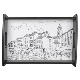 Saint-Tropez Waterfront | French Riviera, France Serving Tray