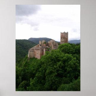 Saint Ulrich Castle, Ribeauvillé. Alsace, France Poster