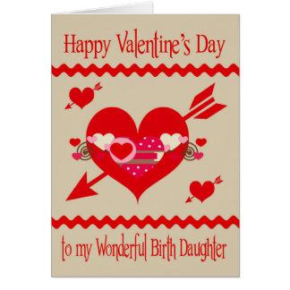 Saint-Valentin à la fille de naissance Carte De Vœux