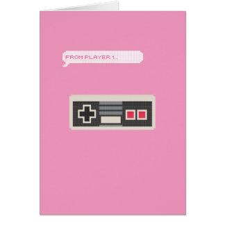 Saint-Valentin de Gamer du joueur 1 au joueur 2 Carte De Vœux