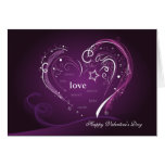 Saint-Valentin de Purple Heart Carte De Vœux