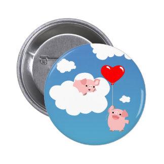 Saint-Valentin : Les ailes de l'insigne de bouton  Pin's Avec Agrafe