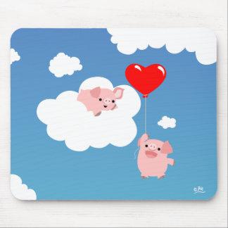 Saint-Valentin : Les ailes du mousepad d'amour Tapis De Souris