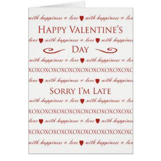 Saint-Valentin tardive, lettrage élégant de Carte De Vœux