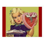 Saint-Valentin vintage ; Chocolats blonds de la Cartes Postales
