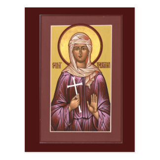 Saint Valentina Prayer Card Postcard