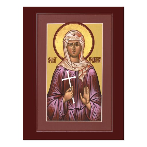 Saint Valentina Prayer Card Postcards