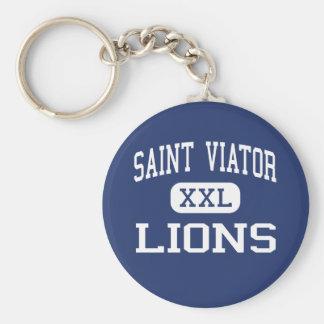 Saint Viator - Lions - High - Arlington Heights Basic Round Button Keychain