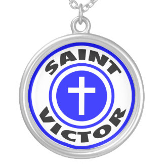 Saint Victor Silver Plated Necklace