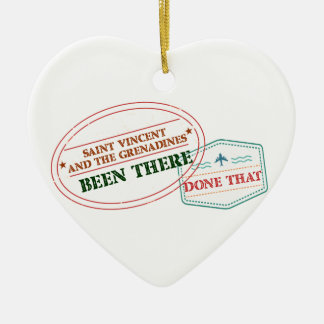 Saint Vincent and The Grenadines Been There Done T Ceramic Heart Ornament
