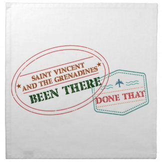 Saint Vincent and The Grenadines Been There Done T Napkin